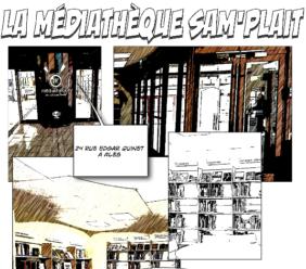 L'information sur l'accès aux ressources de la médiathèque sous forme de BD